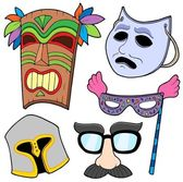 Various masks collection 2 — Stock Vector
