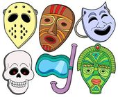 Various masks collection 1 — Stock Vector