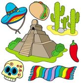 Various Mexican images — Stock Vector