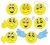 Various smileys 1 — Stock Vector