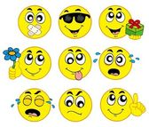 Various smileys 2 — Stock Vector