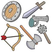 Weapons collection — Stock Vector