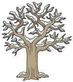 Winter snowy tree — Stock Vector