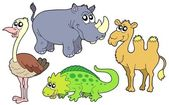 Zoo animals collection — Stock Vector