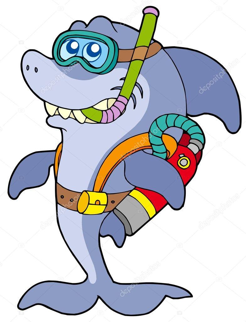 Scuba diving gear clipart
