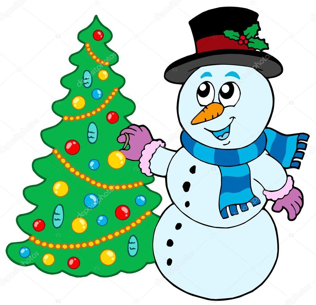 Decorate Christmas Tree Like Snowman: Snowman Decorating Christmas Tree