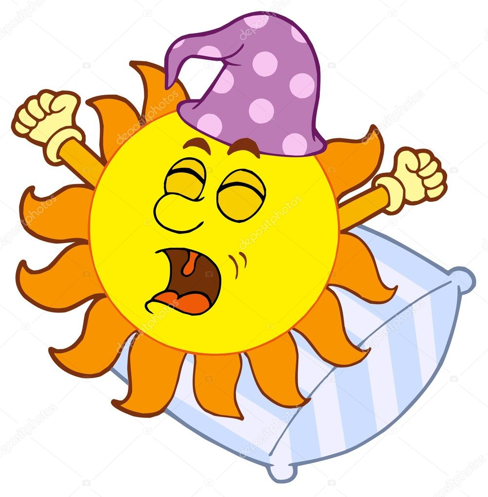 Waking up Sun - vector illustration. — Stock Vector #2261525