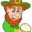 Stock Vector: Lurking leprechaun