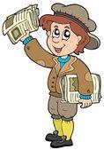 Cartoon paperman — Stock Vector