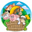 Group of country animals — 图库照片