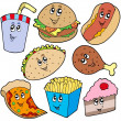 Stock Vector: Fast food collection