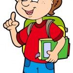 Advising school boy — Stock Vector #2558338