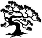 Pine tree silhouette — Stock Vector