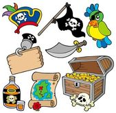 Pirate collection 10 — Stock Vector