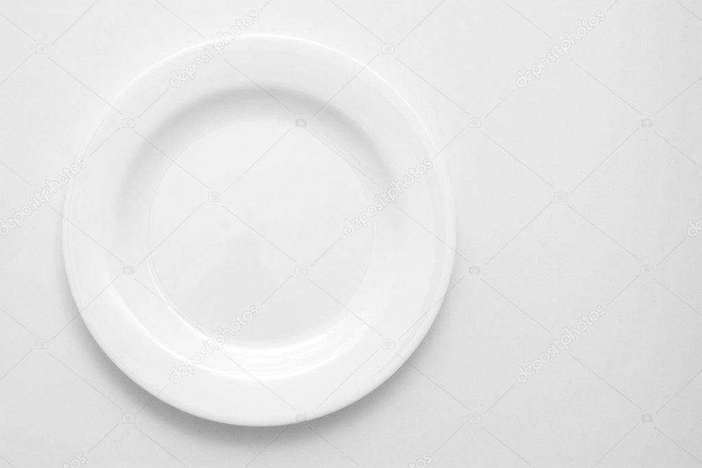 White plate isolated on white.  Stock Photo #1996671