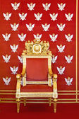 Throne of Polish king — Stock Photo