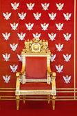 Throne of Polish king — Stock Photo