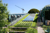 Ekologiczne w nowoczesnym budynku w Europie. — Zdjęcie stockowe