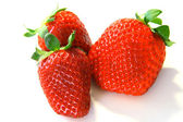 Closeup of bright red strawberries — Stock Photo