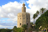 Torre del oro in sevilla — Stockfoto