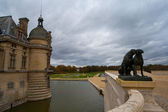 Chantilly castle in autumn — Stock Photo