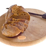 Bread - food on wood - breakfast — Stock Photo