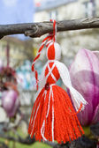 Martenitsa on a tree — Stock Photo