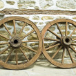 Stock Photo: Old wheels