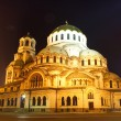 Cathedral in Bulgaria by night — Stock Photo
