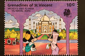Post stamp of Grenadines of St. Vincent — Stock Photo