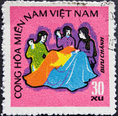 Vietnam post stempel — Stockfoto