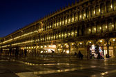 San Marco square in Venice at night — Stock Photo