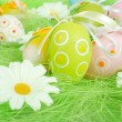 Royalty-Free Stock Photo: Painted Colorful Easter Eggs