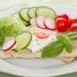 Dietetic Sandwich — Stock Photo #1910377