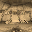 Stock Photo: Interior Of The Indian Tent