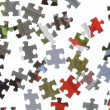 Stock Photo: Pieces of puzzle