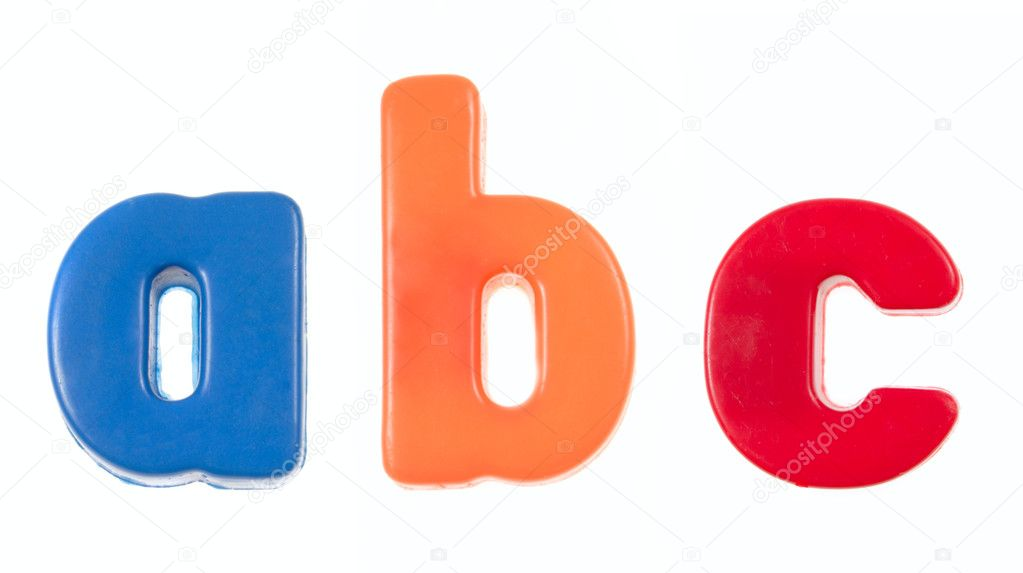 Abc - plastic blocks, photo on the white background — Stock Photo #1964653