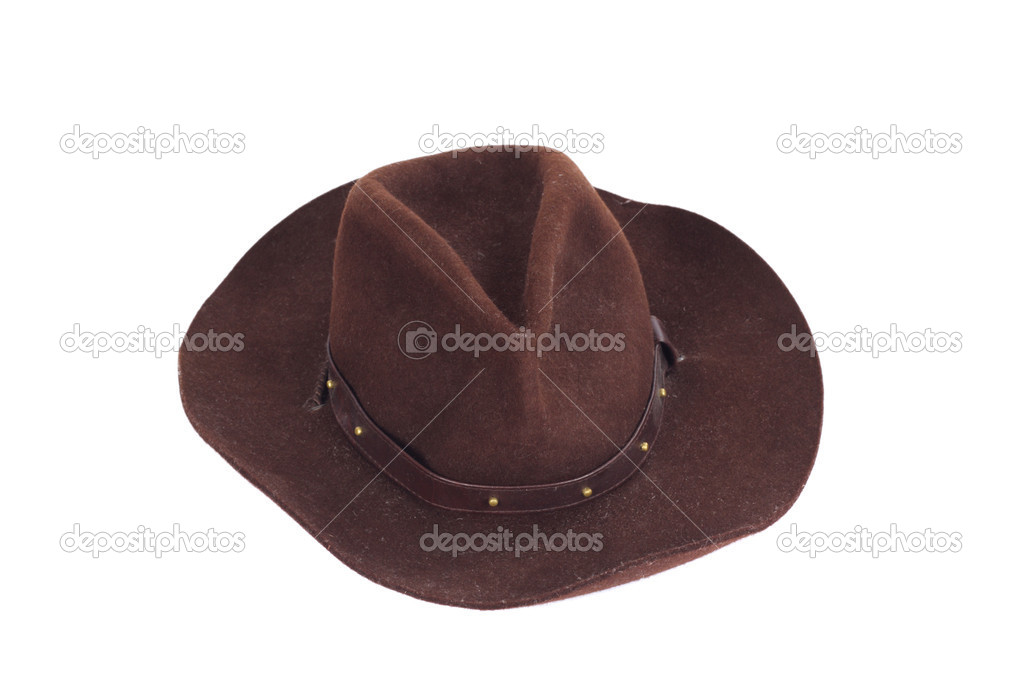 Cowboy hat on white background photo stetson — Stock fotografie #1964729