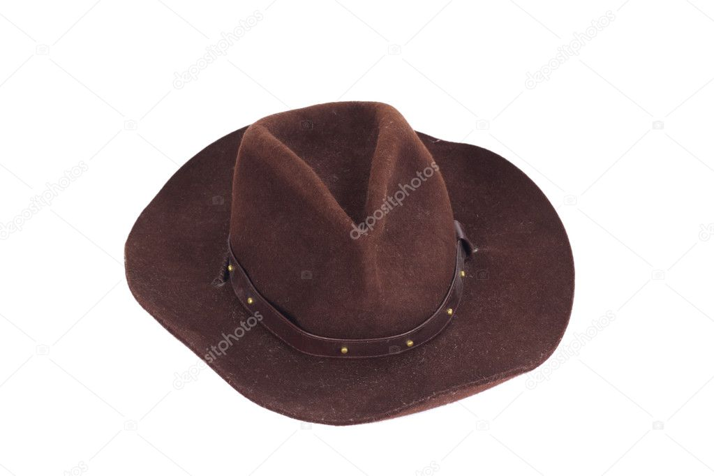 Cowboy hat on white background photo stetson — Lizenzfreies Foto #1964729