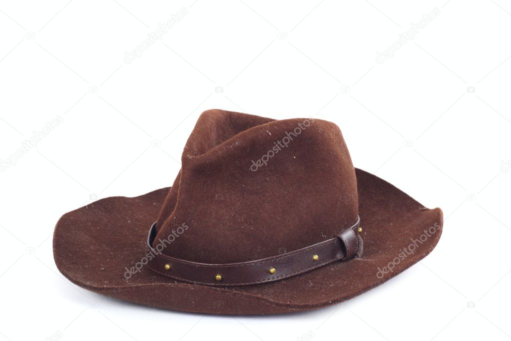 Cowboy hat on white background photo stetson — Stock Photo #1964749