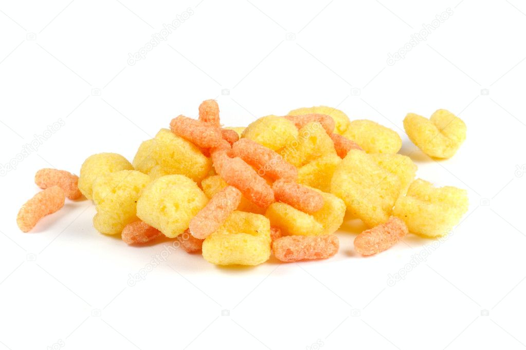 Corn flips,  photo on white background  Stock Photo #1964980