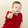 Small Boy Gesture Ok — Stock Photo #2551881