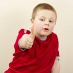 Small Boy Gesture Ok — Stock Photo #2551881