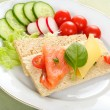 Dietetic Sandwich — Stock Photo