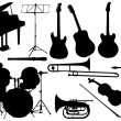 Royalty-Free Stock Vector Image: Music instrument - set