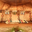 Interior of the Indian tent - Stock Photo