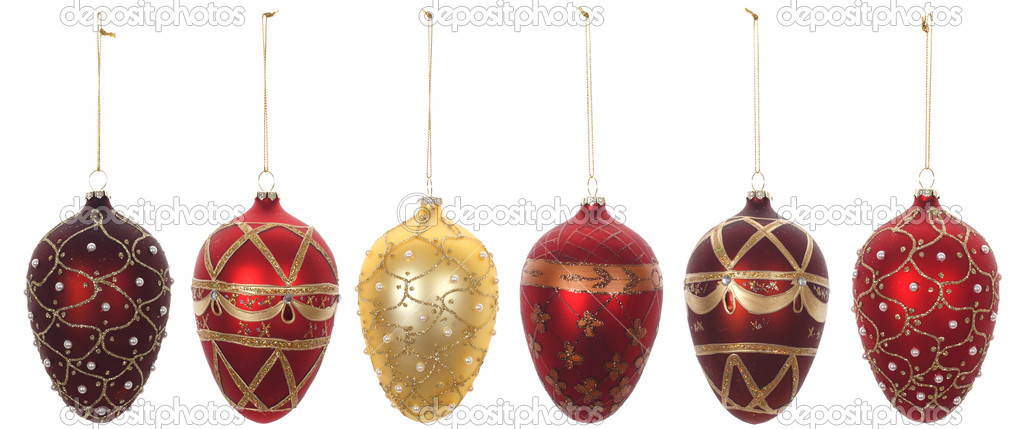 Christmas ornaments, photo on the white background — Stock Photo #2582981