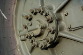 Wheel of the military vehicle — Stock Photo