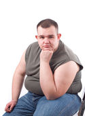 Obese man — Stock Photo