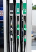 Gas station nozzles — Stock Photo